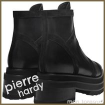 Pierre Hardy Platform Round Toe Casual Style Plain Leather