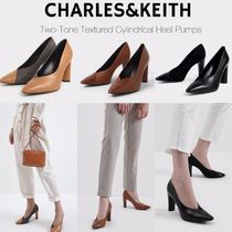 Charles&Keith Casual Style Suede Faux Fur Blended Fabrics Plain