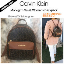 Calvin Klein Monogram Casual Style Office Style Elegant Style Backpacks