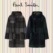 Paul Smith Other Check Patterns Wool Nylon Faux Fur Long Duffle Coats