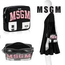 MSGM Casual Style Street Style Leather Shoulder Bags