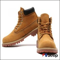JEEP Mountain Boots Unisex Street Style Plain Leather