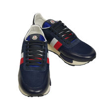 MONCLER Stripes Suede Blended Fabrics Street Style Sneakers