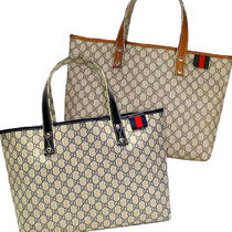 GUCCI Other Plaid Patterns Unisex Logo Totes