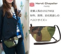 HERVE CHAPELIER Camouflage Casual Style Nylon Shoulder Bags