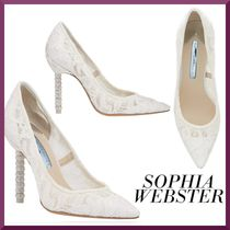 SOPHIA WEBSTER Leather Pin Heels Party Style Elegant Style