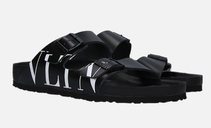 VALENTINO More Sandals Unisex Street Style Leather Sandals