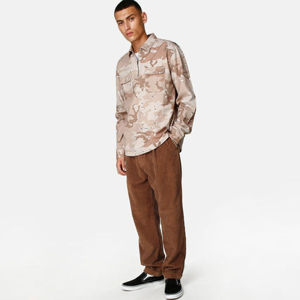 Pullovers Camouflage Unisex Street Style Long Sleeves Shirts
