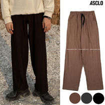 ASCLO Slax Pants Wool Street Style Collaboration Plain