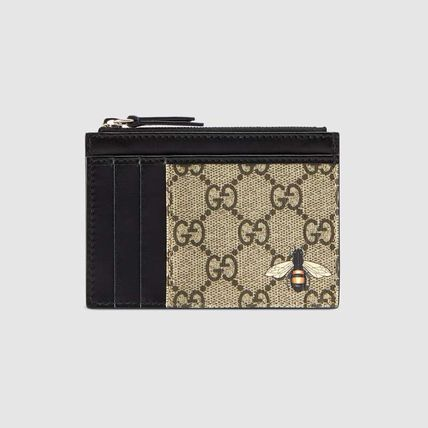 GUCCI GG Supreme Bee Print Gg Supreme Card Case