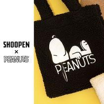 SHOOPEN Unisex Collaboration Shearling Shoppers