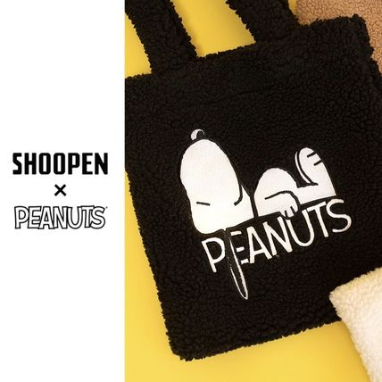 Unisex Collaboration Shearling Shoppers