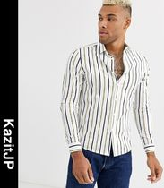 ASOS Stripes Street Style Long Sleeves Shirts