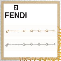 FENDI F IS FENDI Costume Jewelry Unisex Blended Fabrics Chain Party Style