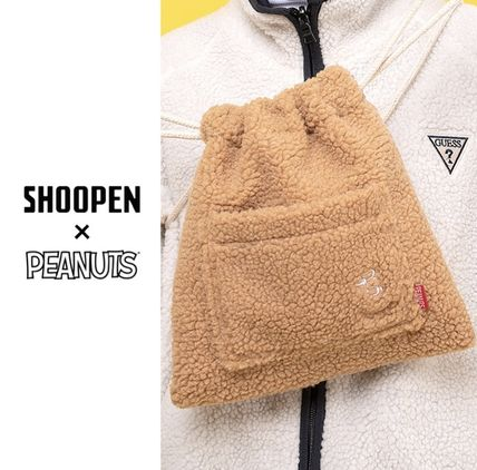 Street Style Collaboration Shearling Shoulder Bags
