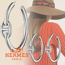 HERMES Casual Style Street Style Silver Elegant Style