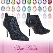 Roger Vivier Leather Pin Heels Elegant Style Ankle & Booties Boots