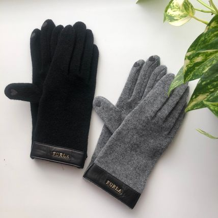 FURLA Plain Logo Gloves Gloves