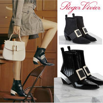 Roger Vivier Enamel Suede Ankle & Booties Boots