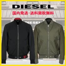 DIESEL Unisex Street Style Bi-color Plain MA-1 Denim Jackets