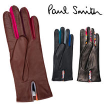 Paul Smith Wool Cashmere Silk Blended Fabrics Bi-color Leather