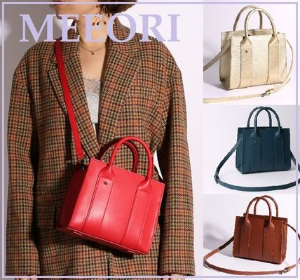 2WAY Office Style Elegant Style Shoulder Bags