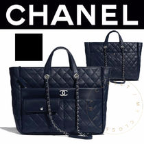 CHANEL MATELASSE Casual Style Calfskin Street Style A4 2WAY Chain Plain