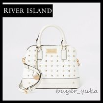 River Island Casual Style Studded 2WAY Plain With Jewels Elegant Style