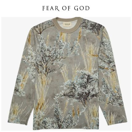 FEAR OF GOD Long Sleeve Camouflage Street Style Long Sleeves Cotton