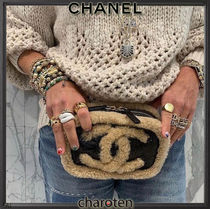 CHANEL ICON Casual Style Unisex Blended Fabrics 2WAY Bi-color Chain