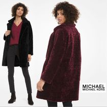 Michael Kors Plain Cashmere & Fur Coats