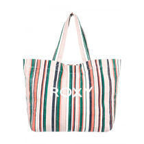 ROXY Stripes Casual Style A4 Totes