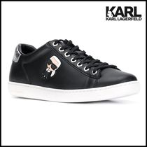 Karl Lagerfeld Casual Style Leather Office Style Low-Top Sneakers