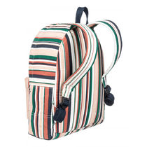 ROXY Stripes Tropical Patterns Casual Style A4 Backpacks