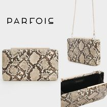 PARFOIS 2WAY Chain Party Style Python Elegant Style Party Bags