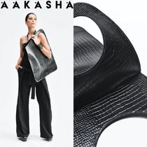Aakasha Unisex Plain Other Animal Patterns Leather Handmade