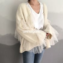 Casual Style Long Sleeves Plain Medium Gowns Oversized