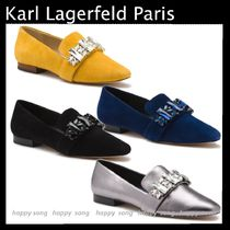 Karl Lagerfeld Suede With Jewels Elegant Style Loafer & Moccasin Shoes