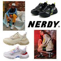 NERDY Casual Style Street Style Plain Low-Top Sneakers