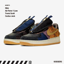 Nike AIR FORCE 1 Unisex Suede Blended Fabrics Street Style Collaboration