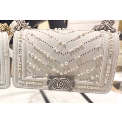 CHANEL Shoulder Bags Casual Style Calfskin Blended Fabrics Street Style 2WAY 7