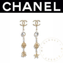 CHANEL ICON Costume Jewelry Star Casual Style Clover Flower Street Style