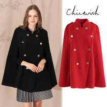 Chicwish Plain Medium Elegant Style Coats