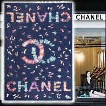 CHANEL 2020 CRUISE STOLE navy blue more scarves & shawls