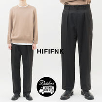 HI FI FNK Slax Pants Unisex Street Style Plain Cotton Slacks Pants