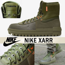 Nike Mountain Boots Blended Fabrics Leather U Tips Khaki