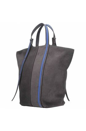Suede A4 Plain Handmade Office Style Totes