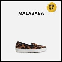 Malababa Blended Fabrics Leather Low-Top Sneakers