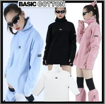 BASIC COTTON Casual Style Unisex Street Style Tops