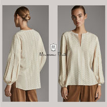 Massimo Dutti Casual Style Puffed Sleeves Long Sleeves Medium Office Style